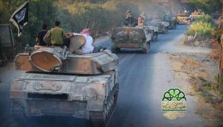syria-opposition-tank-convoy-on-its-way-to-latakia